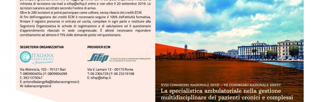 XVIII Congresso Nazionale SIFoP – VII Congresso Nazionale SIRFET
