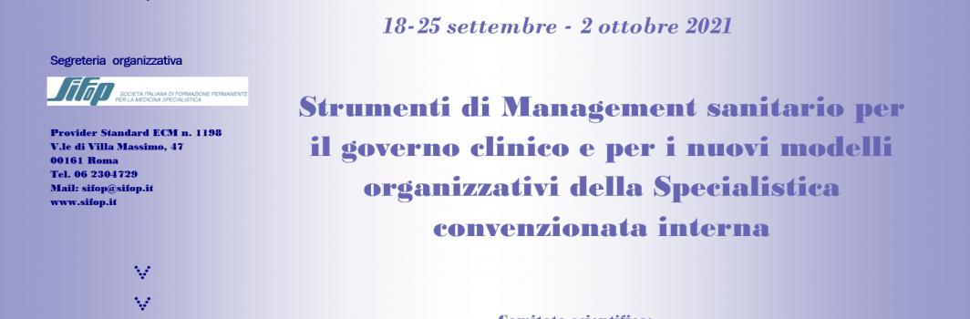 """Webinar """"Strumenti di Management sanitario per il governo clinico…"""""""